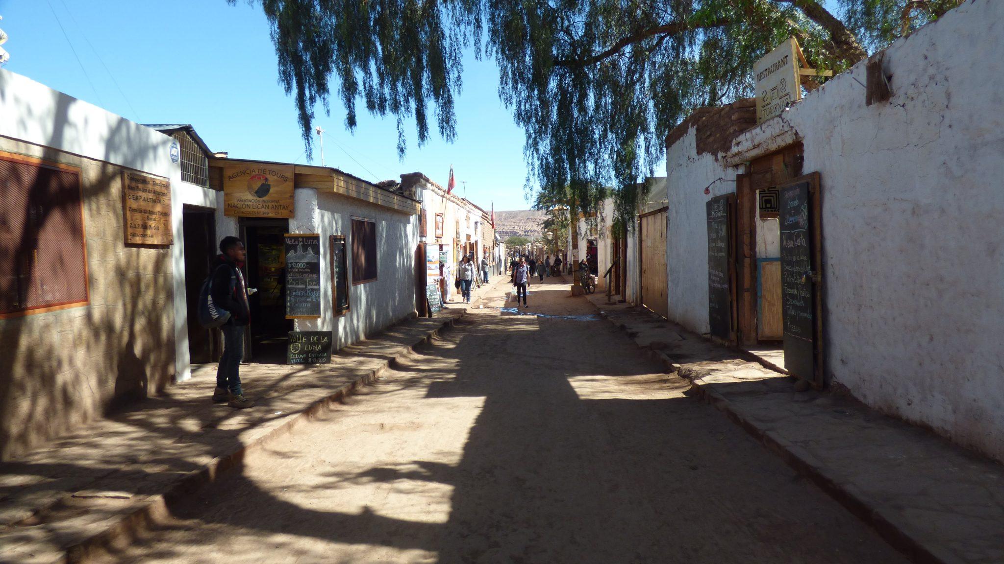 Rua Caracoles em San Pedro de Atacama em 2017