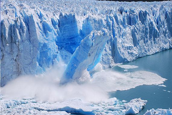 Ruptura de gelo no na geleira Perito Moreno
