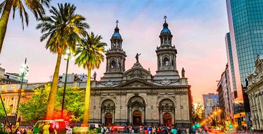 plaza de armas em santiago no chile